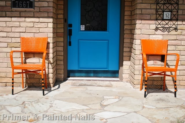 Painted Patio Chairs 2 - Primer & Painted Nails