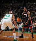 lebron james nba 130127 mia at bos 03 Boston Outlasts Miami in 2nd OT. LeBron Debuts Suede X PE!