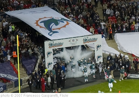 'Wembley: ingresso in campo dei Dolphins' photo (c) 2007, Francesco Gasparetti - license: http://creativecommons.org/licenses/by/2.0/