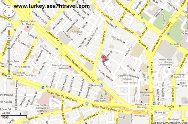 المطاعم في تركيا بالخريطة