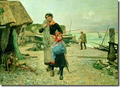 Fisherfolk-Returning-with-their-Nets-Etretat-1882-xx-Henry-Bacon