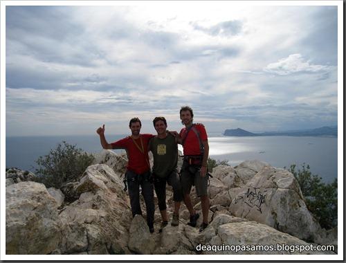 Via Costa Blanca 250m 6c  (6b A0 Oblig) (Peon de Ifach, Alicante) (Fran) 4810
