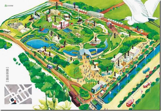 2013雲林農業博覽會園區導覽地圖