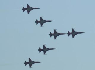 szwajcarski zespół F-5 II Patrouille Suisse