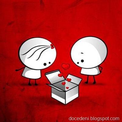 caixa com corações