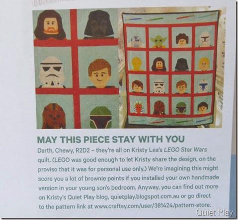 LEGO Star Wars quilt in March Homespun