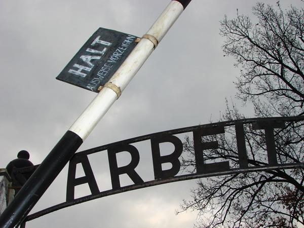Auschwitz I Camp - Arbeit Macht Frei - Detail of Main Gate - Oswiecim, Poland