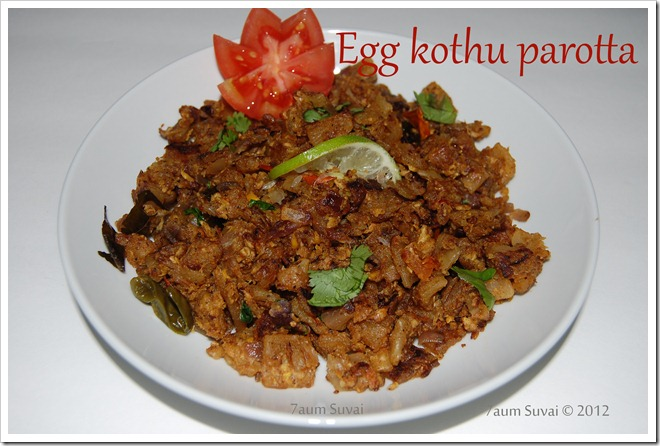 Egg Kothu Parotta / முட்டை பரோட்டா
