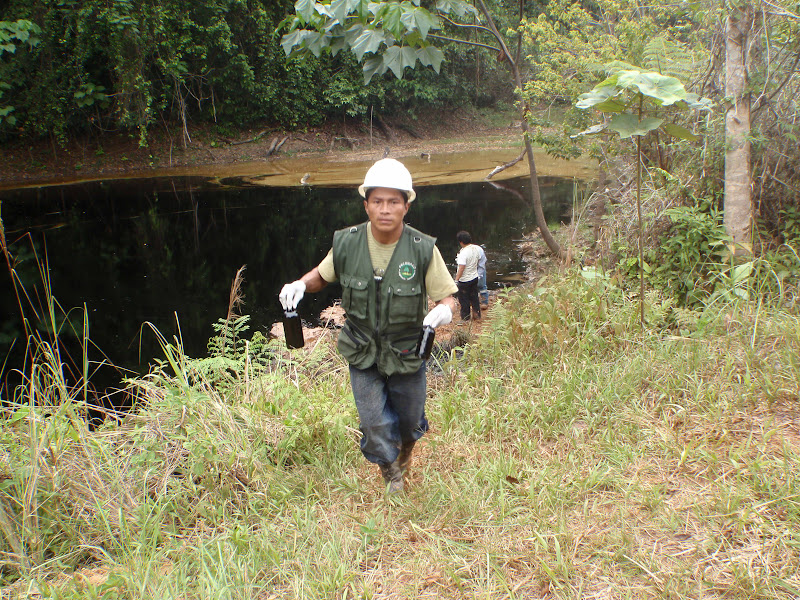 The crude from the pipeline rupture on August 27 2010 flowed down into a lake used by the local community for fishing.