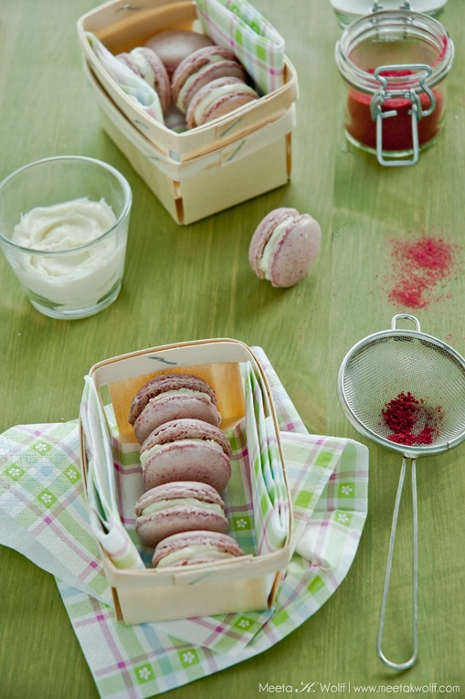Raspberry Coconut Macarons (0107) by Meeta K. Wolff