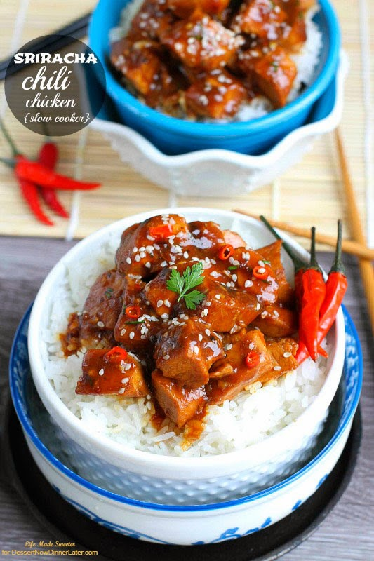 {Slow Cooker} Sriracha Chili Chicken - so much easier than take-out!.jpg