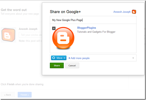 Creating Google Plus Brand Page - Share Page to Google Plus