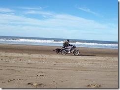 Motos por la playa
