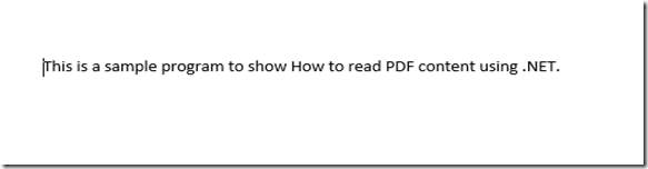 PDF Content To read using .NET