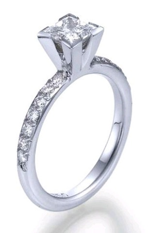 and princess cut engagement rings are a popular choice