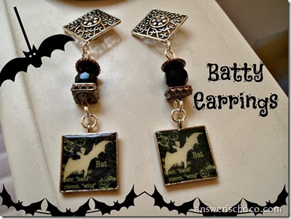 Bat Charm Earrings