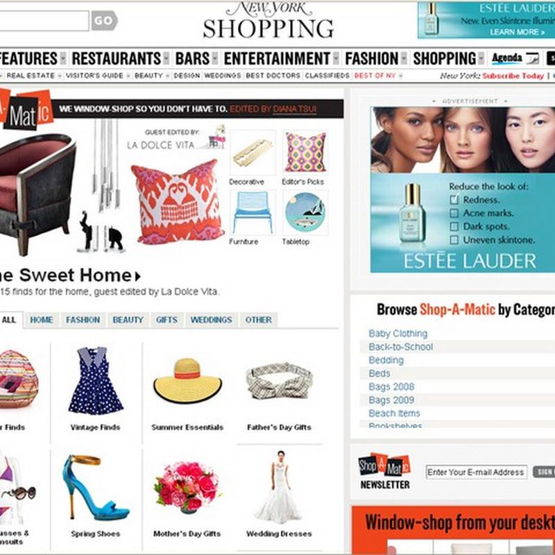 Shop-A-Matic: La Dolce Vita in New York Magazine!
