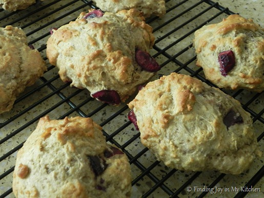 Cherry Scones - Cooling.
