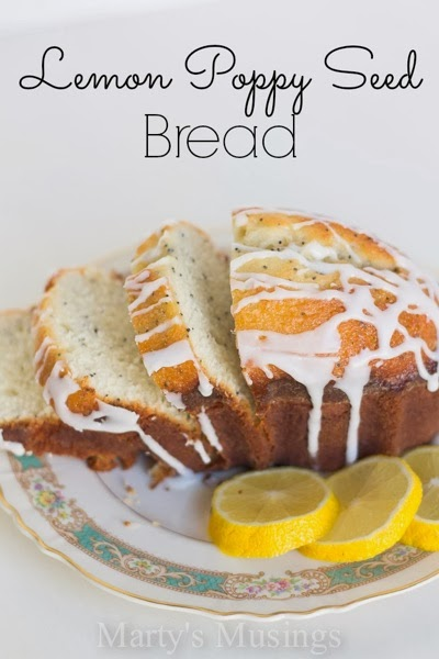 Marty sMusings Lemon Poppy Seed Bread