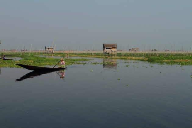 Near the floating gardens of Inle Lake, Burma