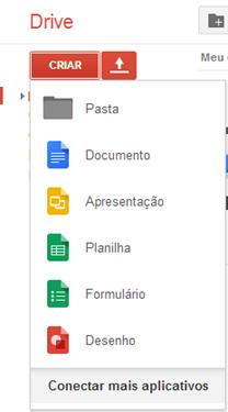 Opções de arquivos - Google Drive