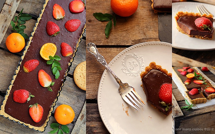 No-bake chocolate strawberry tart 5