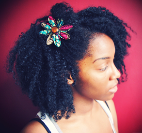Cute natural hair with accessories