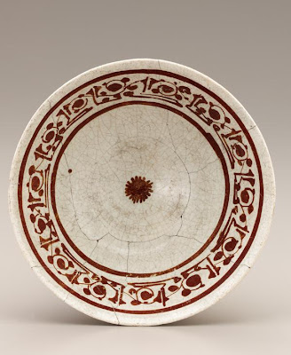 Bowl | Origin:  Egypt or Syria | Period: possibly 13th century | Details:  Not Available | Type: Stone-paste painted under clear glaze | Size: H: 8.0  W: 19.4  cm | Museum Code: F1942.9 | Photograph and description taken from Freer and the Sackler (Smithsonian) Museums.