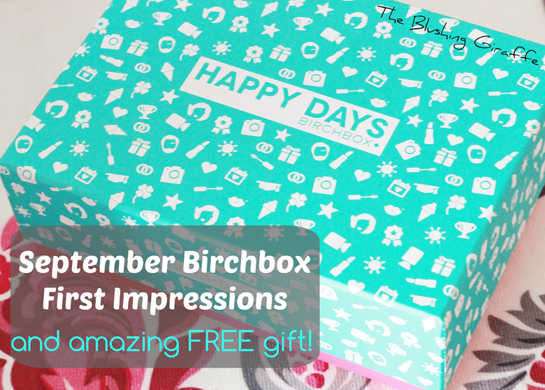 september birchbox first impression review the blushing giraffe