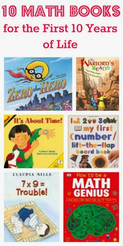 10 Math Books for 10 First Years