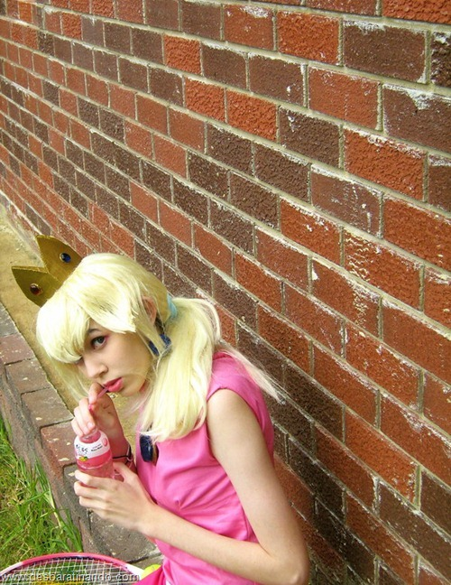 princesa peach cosplay Princess Peach cosplya desbaratianndo (14)
