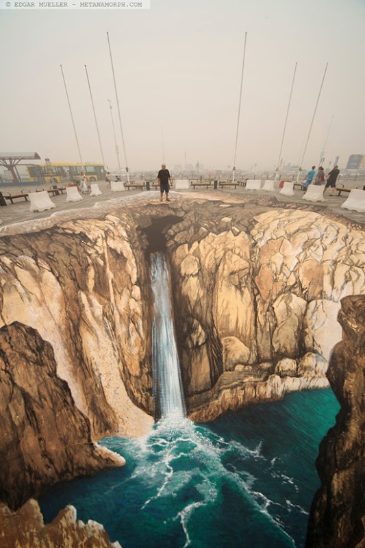 duality 3d street painting