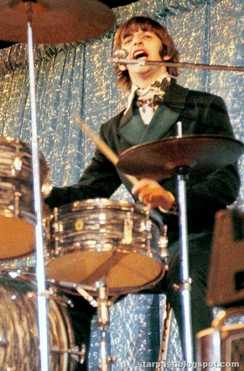 Ringo Starr Ringo playing his drums