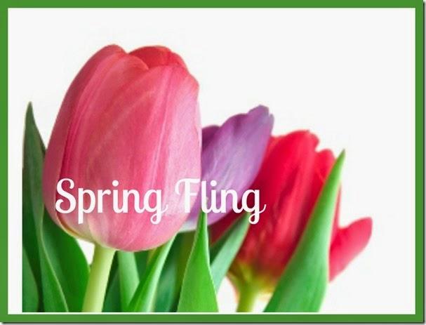Ribbet Edit Spring tulips Spring Fling bordered