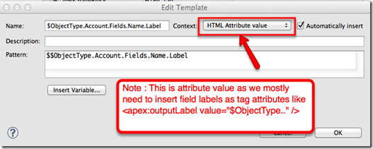 Visualforce Field Label template