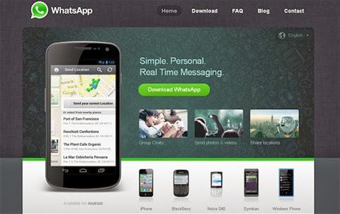 WhatsApp es la aplicación de mensajería instantánea más popular de 2013
