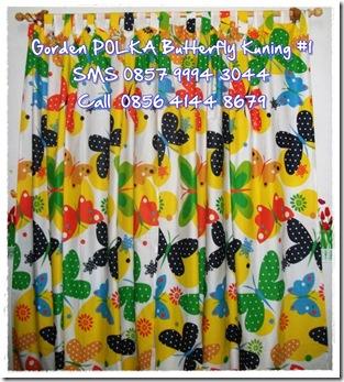 gorden BUTTERFLY POLKA # 2 kuning