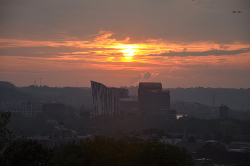 Sunset over Covington, KY