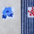 rose , moutarde et papier japonais