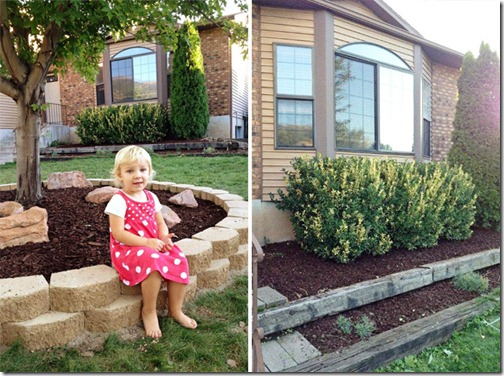 New Mulch in the Front_collage
