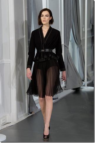black sheer pleat skirt