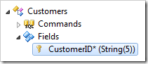 CustomerID field of Customers controller.