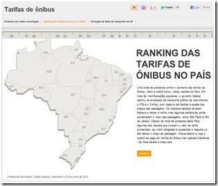 Ranking tarifas de ônibus Brasil_Terra