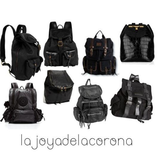 mochilas negras