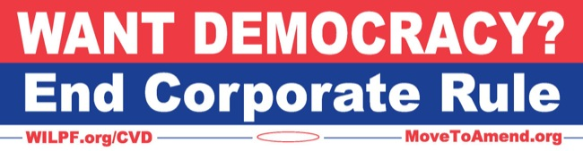 CC Photo Google Image Search Source is wilpf org  Subject is End Corp Rule bumpersticker Carter