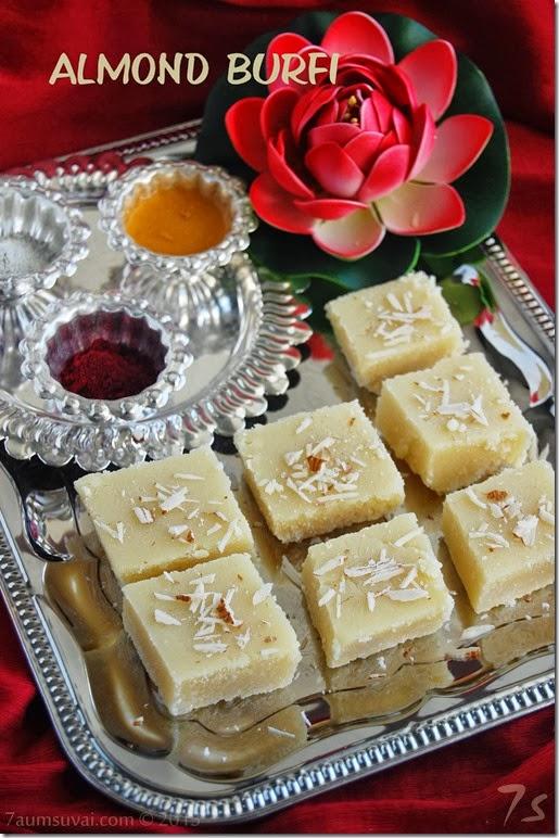 Almond burfi / Almond cake