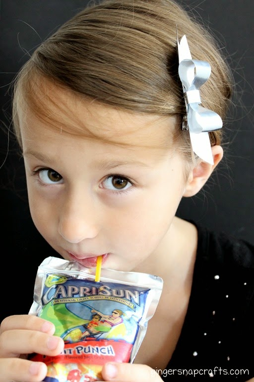 using capri sun wrappers in crafts