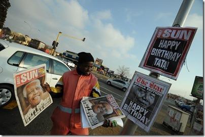 Jornaleiro no Soweto Mandela