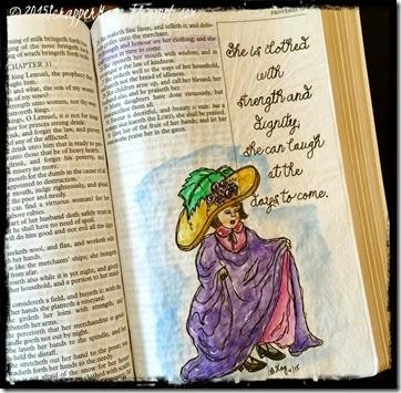 Bible Art Journaling Prov 31-25