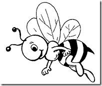 abeja jugarycolorear